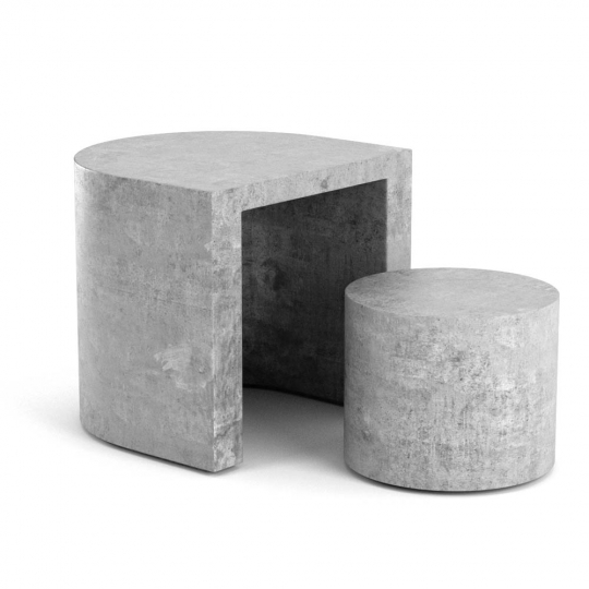 chocofur blender 3D model Stools Concrete 12