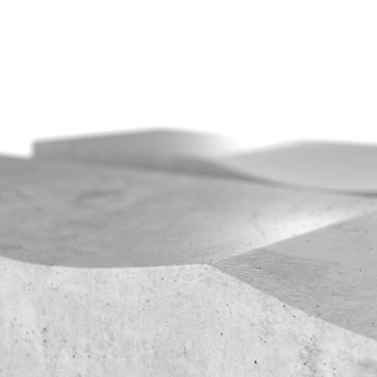 chocofur blender 3D model Benches Concrete 31