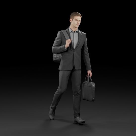 chocofur blender 3D model Elegant Humano Elegant 10