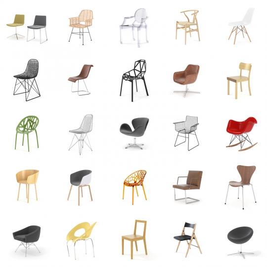 chocofur blender 3D model Chairs Chairs Bundle