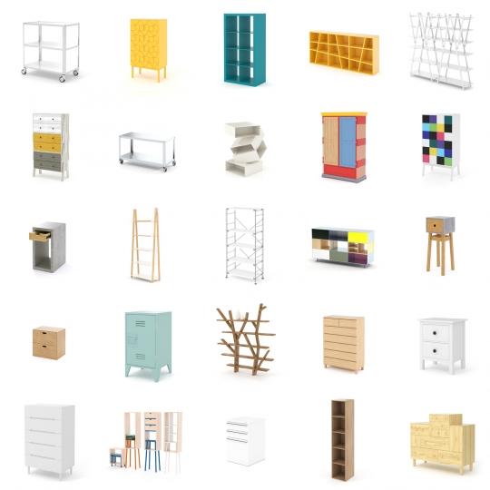 chocofur blender 3D model Storage 3D Storage Furniture Models for Blender