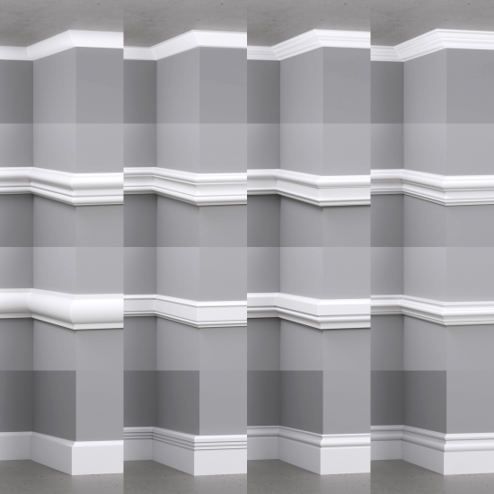 chocofur blender 3D model Skirting Skirting Details Bundle