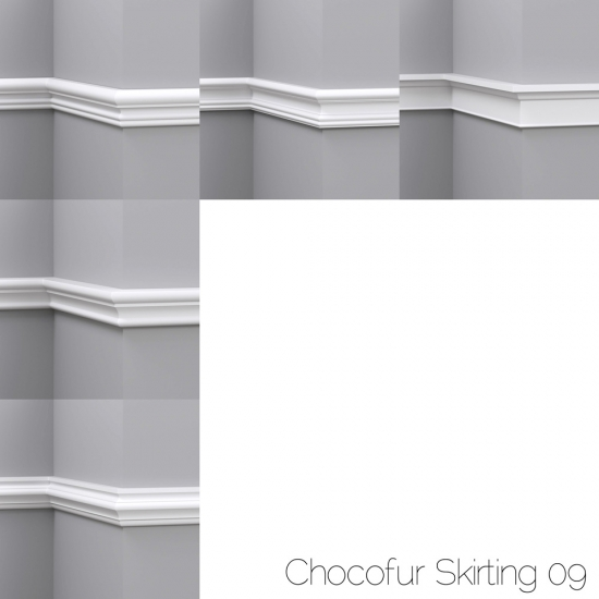 chocofur blender 3D model Skirting Skirting 09