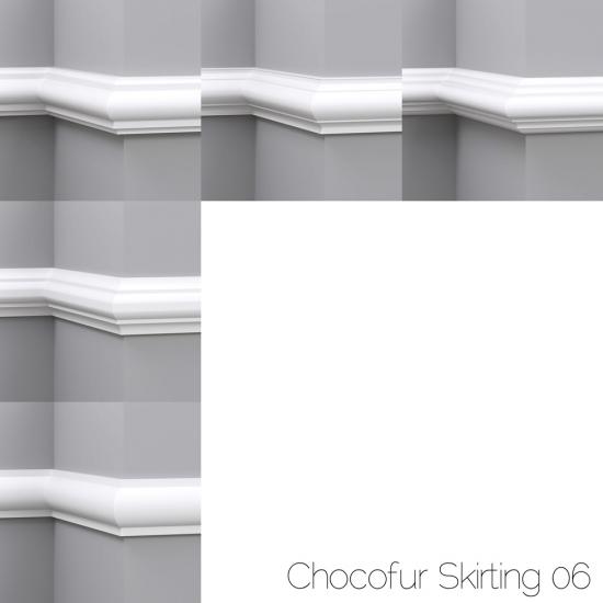 chocofur blender 3D model Skirting Skirting 06
