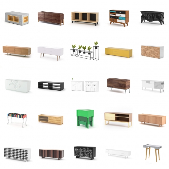 chocofur blender 3D model Sideboards Sideboards Bundle