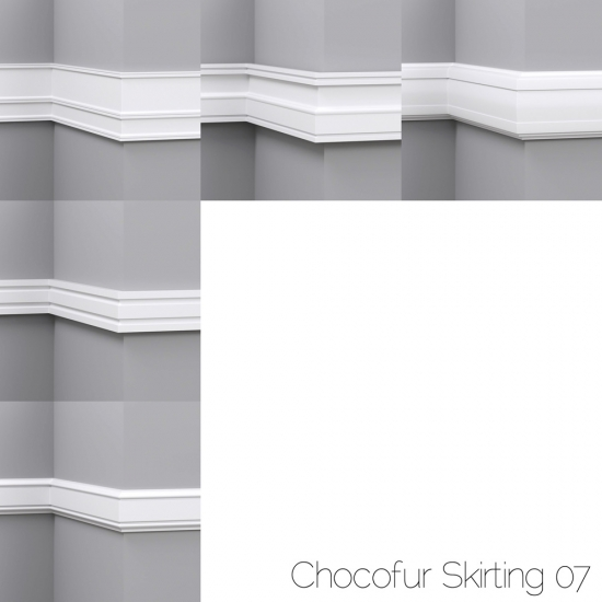 chocofur blender 3D model Skirting Skirting 07
