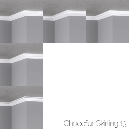 chocofur blender 3D model skirting Skirting 13