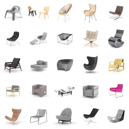 chocofur blender 3D model Lounge Lounge Bundle