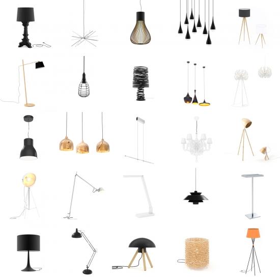 chocofur blender 3D model Lamps Lamps Bundle