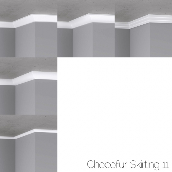 chocofur blender 3D model Skirting Skirting 11