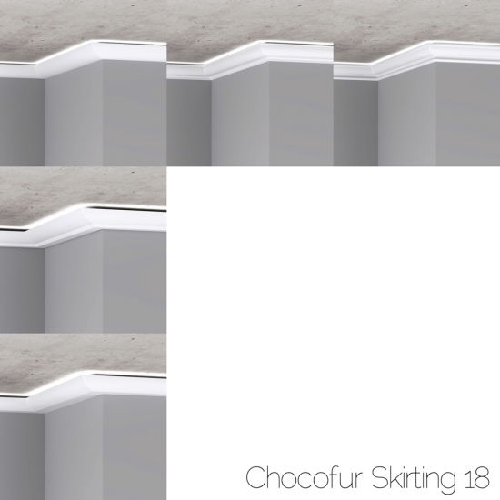 chocofur blender 3D model skirting Skirting 18