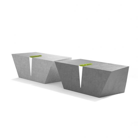 chocofur blender 3D model Benches Concrete 34