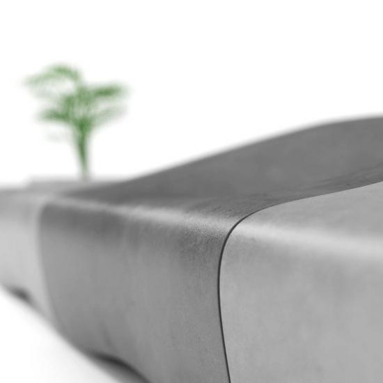 chocofur blender 3D model Benches Concrete 22