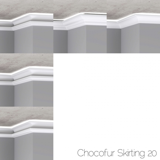 chocofur blender 3D model skirting Skirting 20