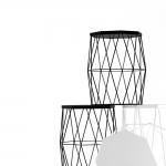 chocofur blender 3D model Stools Steel 14