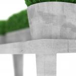 chocofur blender 3D model Benches Concrete 16