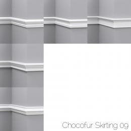 chocofur blender 3D model Skirting Skirting 09