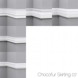 chocofur blender 3D model Skirting Skirting 07