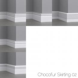 chocofur blender 3D model Skirting Skirting 02