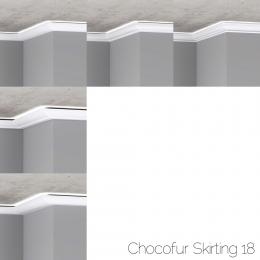 chocofur blender 3D model Skirting Skirting 18