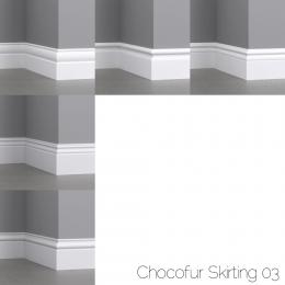 chocofur blender 3D model Skirting Skirting 03