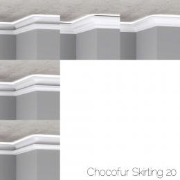 chocofur blender 3D model Skirting Skirting 20